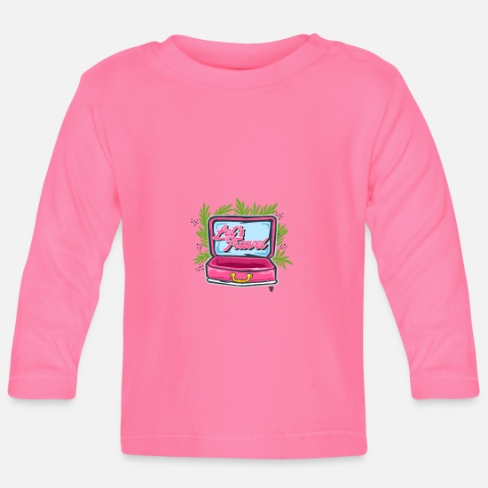 Travel Baby Clothes - Suitcases Travel Lets Travel World Trip - Baby Longsleeve Shirt azalea