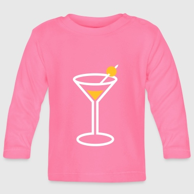 Martini Cocktail Glass - Baby Long Sleeve T-Shirt