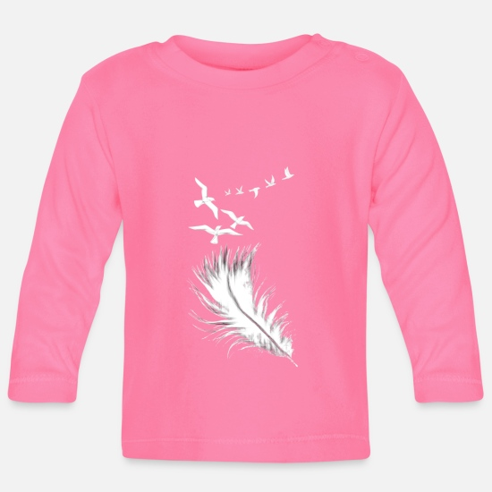 Feather Baby Clothes - feather - Baby Longsleeve Shirt azalea