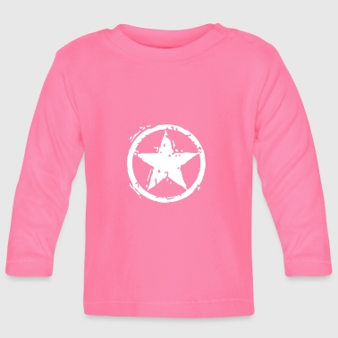 Star With Circle - Stencil - Baby Langarmshirt