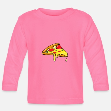 Partner Piece - Fast Food - pizza salami partner shirt - Baby Longsleeve Shirt