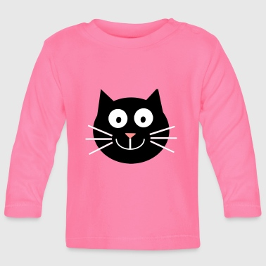 Katze, happy - Baby Long Sleeve T-Shirt