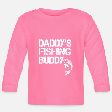 Carp Daddy's Fishing Buddy - Daddy's Angel Friend - Gift - Baby Longsleeve Shirt