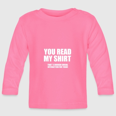 Social social social interaction social interaction - Baby Long Sleeve T-Shirt
