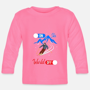 Ski Winter Sports World On Off - Baby Longsleeve Shirt