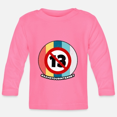 Day Article 13 Vintage Europe Internet Save Gift - T-shirt manches longues Bébé