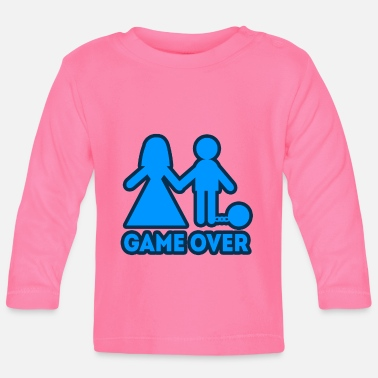 Hochzeitsbrauch Game Over Bachelor Party JGA Groom - Baby Longsleeve Shirt