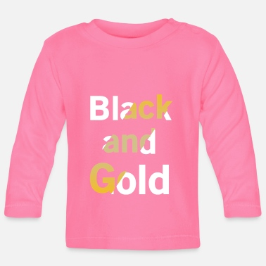 Luxus Black And Gold No. 10 - Baby Langarmshirt
