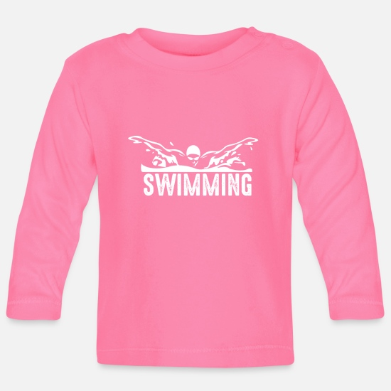 Gift Idea Baby Clothes - Swimming Shirt · Recreational Sportsman · Gift - Baby Longsleeve Shirt azalea