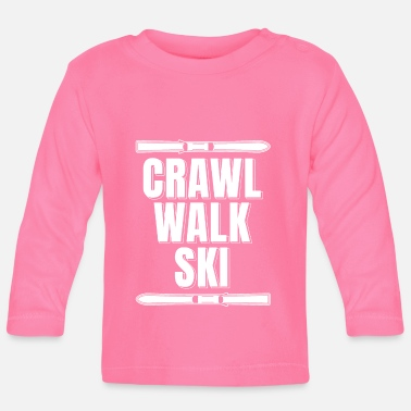 Baby Clothes Skier Ski Crawl Walk Ski Shirt - Baby Longsleeve Shirt