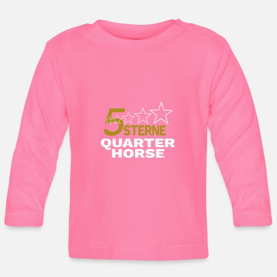 Birthday Baby Clothes - Quarter Horse Western Riding Horses Vintage Design - Baby Longsleeve Shirt azalea
