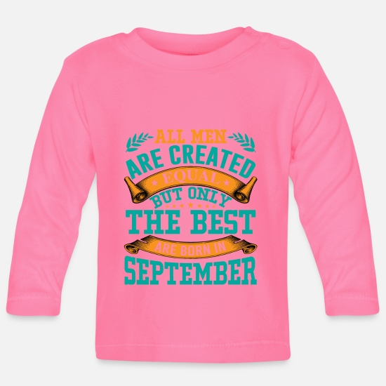 Wife Baby Clothes - All men are created equal - Baby Longsleeve Shirt azalea