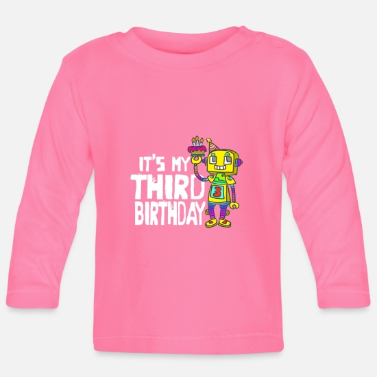 Birthday Baby Clothes - Children's shirt for birthday with funny motif - Baby Longsleeve Shirt azalea