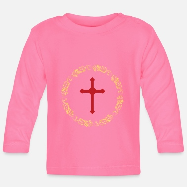 Country Sirkler Gold Cross Faith - Langarmet baby T-skjorte