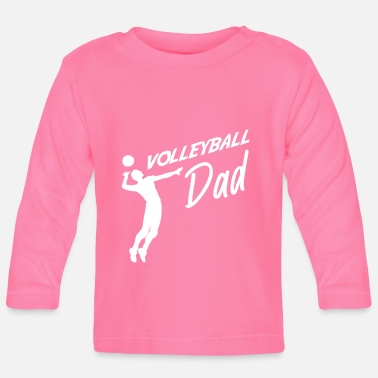 Set Volleyboll Pappa Volleyboll Far - Långärmad baby T-shirt