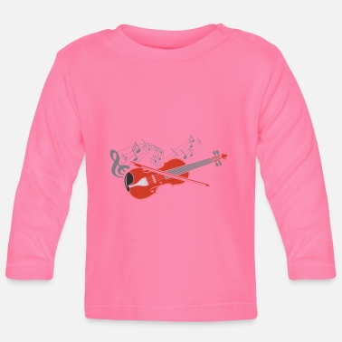 Fiddlestick Violin violin player lover gift idea motif - Baby Longsleeve Shirt