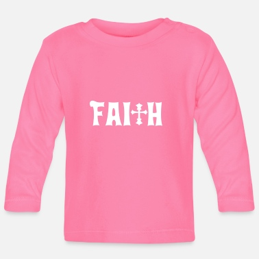 Bibel Faith Cross Christian Design Schack - Långärmad baby T-shirt