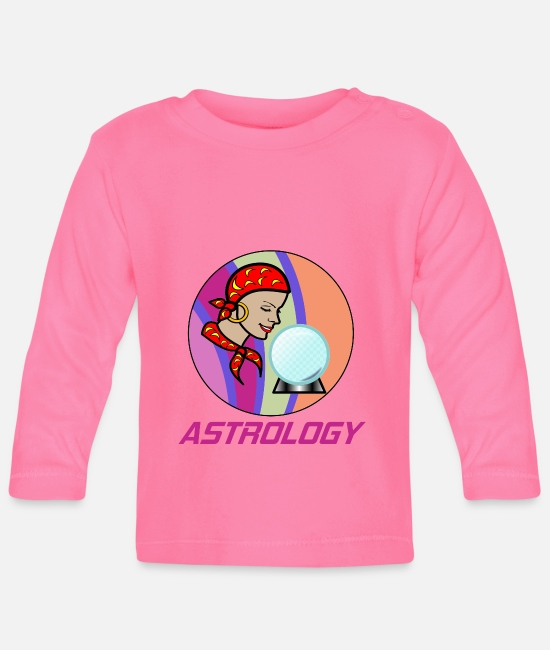 Training Baby Long-Sleeved Shirts - Astrology hobby in a circle - Baby Longsleeve Shirt azalea