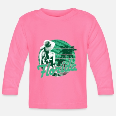 Spring Break Florida Beach Girl Green Paradise - T-shirt manches longues Bébé