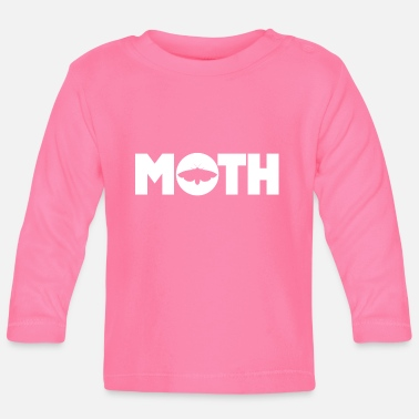 Lamp Moth Goth Teen E-Girl Moths Moth Moon - Baby Longsleeve Shirt