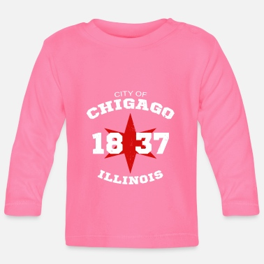 City of Chicago Illinois White Vintage - Baby Langarmshirt