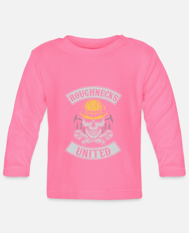 Grandpa Baby Long-Sleeved Shirts - Roughnecks united - oilfield roughneck - oil rig - Baby Longsleeve Shirt azalea