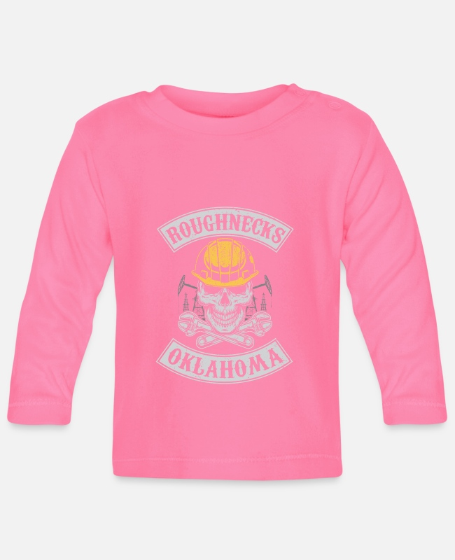 Grandpa Baby Long-Sleeved Shirts - Roughnecks oklahoma oilfield roughneck - oil rig - Baby Longsleeve Shirt azalea