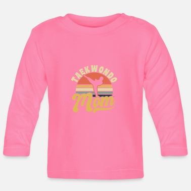 Tae Kwon Do Taekwondo Mom Vintage Retro Sunset Gift - Baby longsleeve