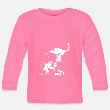Aggressive Cat Aggressive Attacking - Baby Longsleeve Shirt