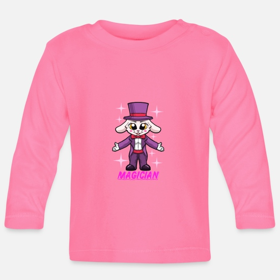 Gift Idea Baby Clothes - Profession - rabbit magician with cylinder - Baby Longsleeve Shirt azalea