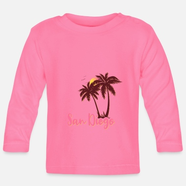 San Diego Palms Beach Sunset - Baby Longsleeve Shirt
