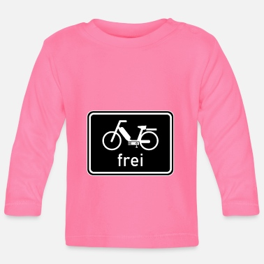 50 Cm³ Bicycle path - moped free sign, 25 km / h, 50cc - Baby Longsleeve Shirt