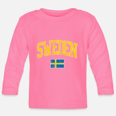 f90a772748b8 Sverige Sverige vintage jersey - Långärmad baby T-shirt