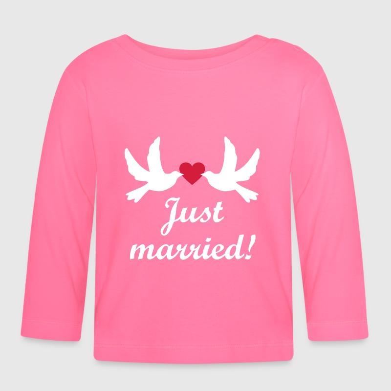 Camiseta manga larga bebé Just Married! boda novia Despedida De ...