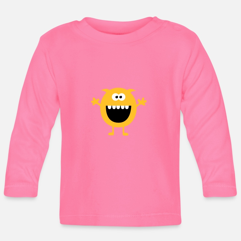 Bestsellers Q4 2018 Baby Clothing -  Funny Cute Monsters (Free Hugs) - Baby Longsleeve Shirt azalea