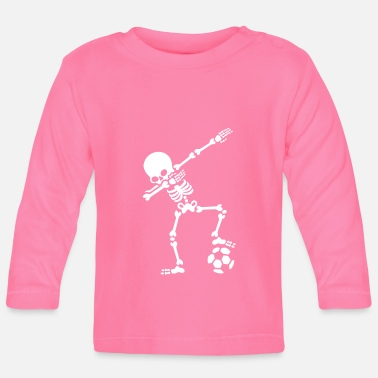 Dab Dab dabbing skeleton football (soccer) - Camiseta manga larga bebé