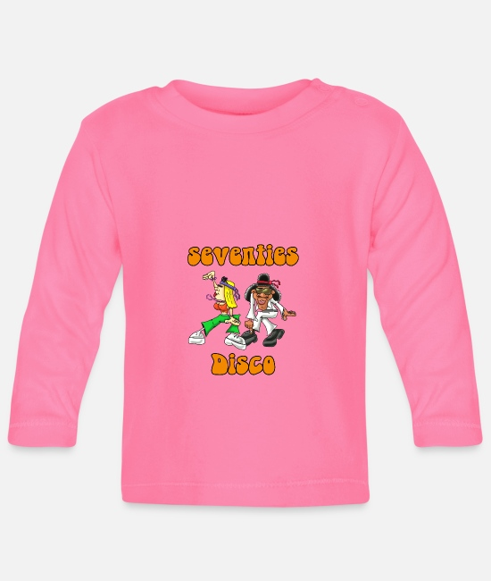 Comic Style Baby Long-Sleeved Shirts - Disco - Baby Longsleeve Shirt azalea