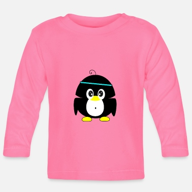 sportive penguin - Baby Long Sleeve T-Shirt