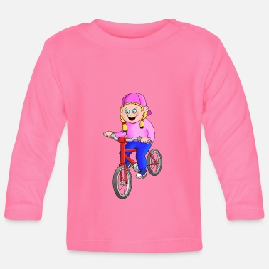Cycling Cycling girl - Baby Longsleeve Shirt