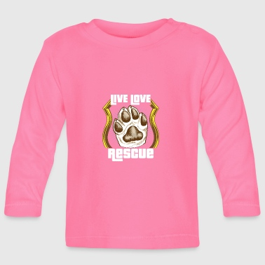 Dog animal rescue dogs rescue shelter gift - Baby Long Sleeve T-Shirt