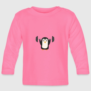 Weight Lifting Penguin weight lifting - Baby Long Sleeve T-Shirt
