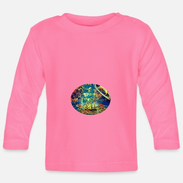 Space Ship Sailing ship in space - Baby Longsleeve Shirt