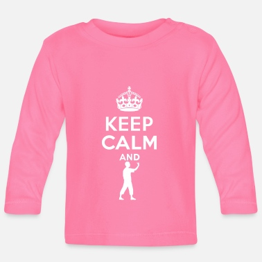 Darts Keep Calm - Dart - Baby Long Sleeve T-Shirt