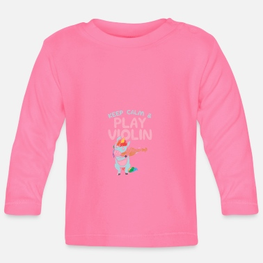 Fiddlestick Violin player gifts funny unicorn - Baby Longsleeve Shirt
