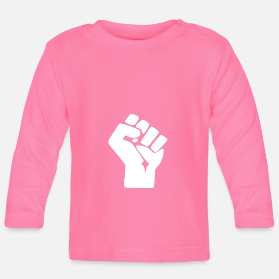 Motion Baby Clothes - fist - Baby Longsleeve Shirt azalea