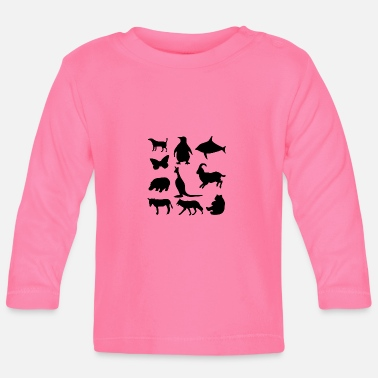 Tiere Tiere - Baby Langarmshirt