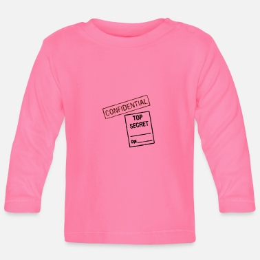 Note Clue Confidential Top Secret - Baby Longsleeve Shirt
