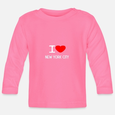 New York City I LOVE NEW YORK CITY - Langærmet babyshirt