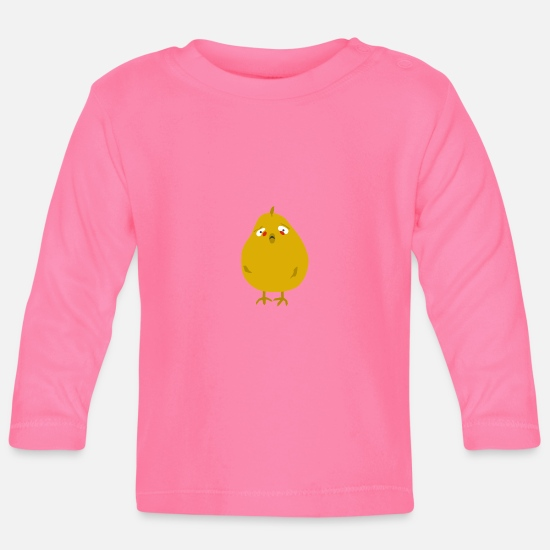 Chick Magnet Baby Clothes - chik the sad one - Baby Longsleeve Shirt azalea