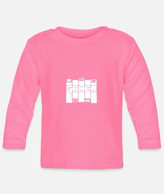 Play Baby Long Sleeve Shirts - Gamer - Gamers Passion - Baby Longsleeve Shirt azalea